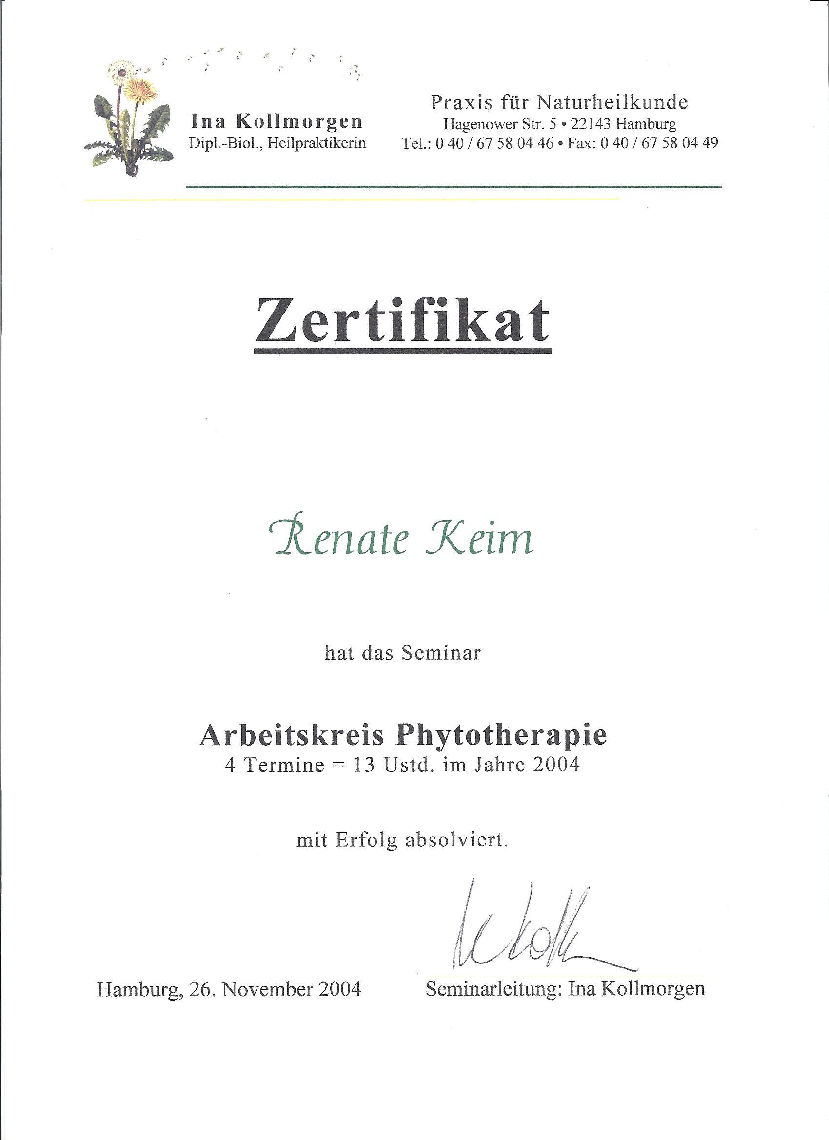 Arbeitskreis Phytotherapie 2004