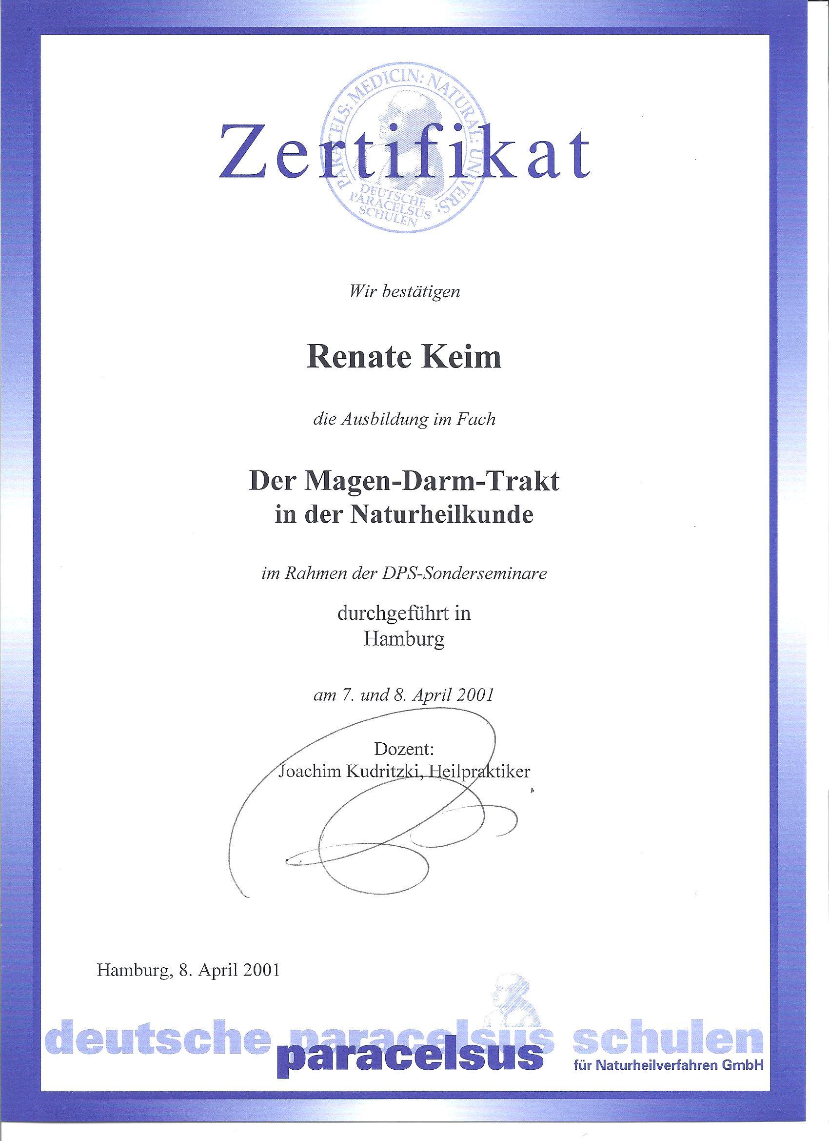 der Magen-Darm-Trakt in der Naturheilkunde 04/01 | Hubert\'s Feines ...