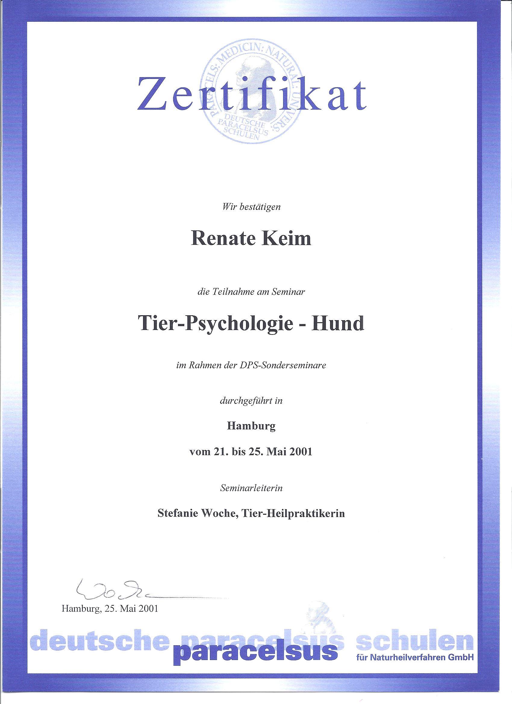 Tier-Psychologie - Hund 05/01