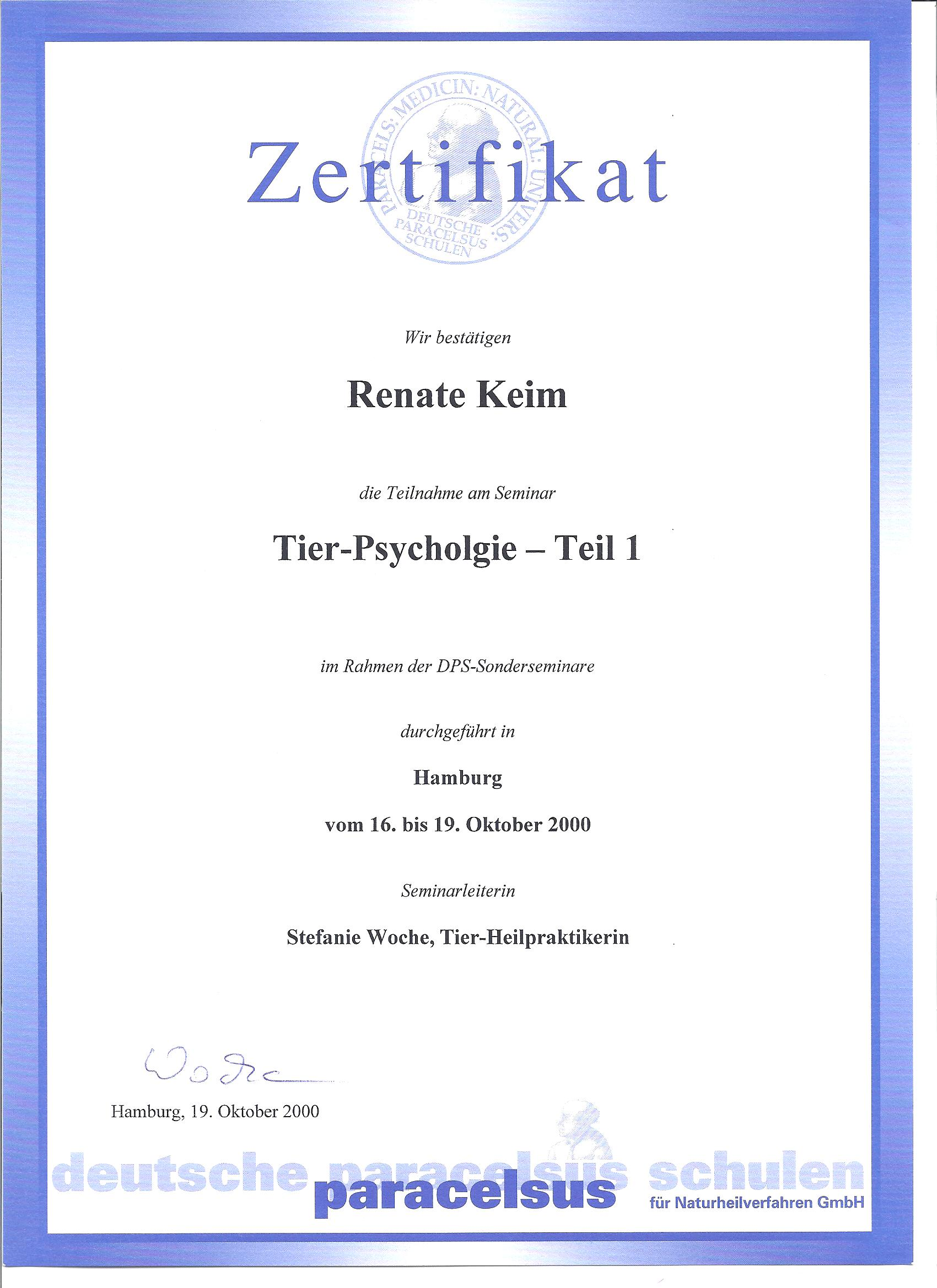 Tier-Psychologie 10/00